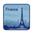 with Eiffel Tower in Paris vector image