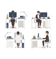 woman working on computer female office worker vector image