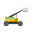 working platform icon flat style vector image vector image