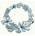 wreath with leaves vector image vector image