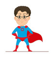 young man in super hero costume the man in vector image