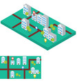 abstract city map with gps signs flat and vector image