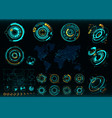 abstract future concept futuristic interface vector image