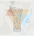 abstract polygonal tirangle cocktail absinthe vector image vector image
