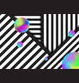 abstract stripe black and white lines pattern vector image vector image
