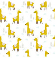 alpaca cute animal seamless pattern vector image vector image