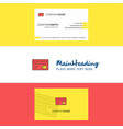 beautiful credit card logo and business card vector image vector image