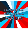 Big ice sale poster with LIMITED OFFER MEGA SALE vector image vector image