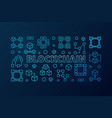 blockchain blue or banner in vector image vector image