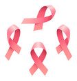 breast cancer ribbon icon set isometric style vector image