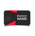 business card red origami black background vector image