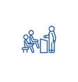 business lecturer line icon concept business vector image vector image