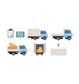 cargo transport set freight transportation vector image vector image