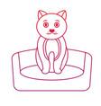 cat on bed cartoon pet icon image bird tropica vector image