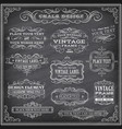 chalkboard labels and banners vector image vector image