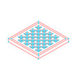 chess board icon network connections vector image