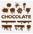 Chocolate splat collection vector image vector image