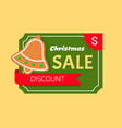 christmas sale discount gingerbread jingle bell vector image vector image