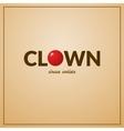 Clown logo vector image vector image