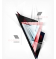 Color triangles unusual abstract background vector image