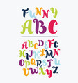 colorful alphabet in vintage style vector image