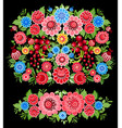 colorful collection of ornate decoration floral vector image vector image