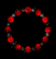concept contrast red black circles abstract vector image vector image