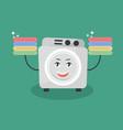 cute cartoon washing machine vector image