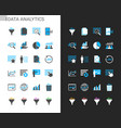 data analytic icons light and dark theme vector image vector image