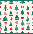 different christmas elements seamless pattern vector image vector image