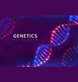 dna background genetics structure biology vector image vector image