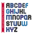 Double lines geometric font colorful uppercase vector image