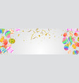 easter eggs composition holiday background esp10 vector image vector image