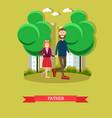 father concept in flat style vector image vector image