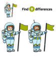 find differences astronaut vector image vector image