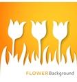Flower applique background vector image