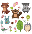 Forest animals set of icons vector image vector image