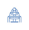 fountains line icon concept fountains flat vector image vector image