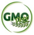 GMO FREE vector image vector image