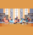 group mix race women sitting together vector image