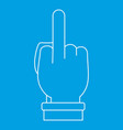 hand gesture icon outline style vector image