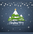happy new year merry christmas 2019 with blue navy vector image vector image