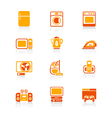 Home electronics icons - JUICY series vector image vector image