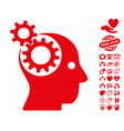 intellect gears icon with lovely bonus vector image vector image