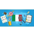 italy economy economic condition country with vector image vector image