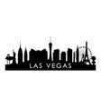 las vegas skyline silhouette black las vegas city vector image vector image