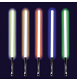 light sabers set vector image