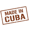 made in cuba stamp vector image vector image