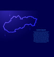 map slovakia from luminous blue star space points vector image vector image