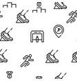 marathon seamless pattern vector image vector image